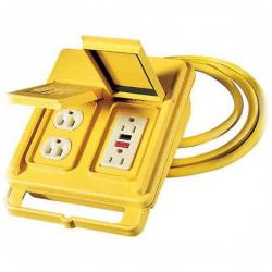 Coleman Cable - 02816-88-02 - Corded Quad Box -- 6 Ft - 12/3 - SJTW - Yellow