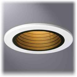 Cooper Lighting 4001BB - 4 Inch Black Baffle, White Trim