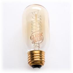 Classic Bulb - Tubular - T14 -- 40 Watt - Spiral Filament - T45 - 2200K - Amber