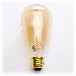 Classic Bulb - Edison - ST58 -- 60 Watt - Squirrel Cage Filament - 2200K - Amber