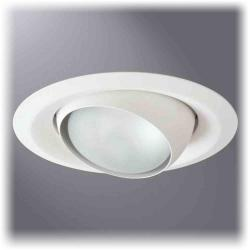 Cooper Lighting 6130WH - 6 Inch Eyeball with White Trim
