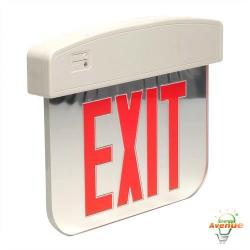 Cooper Lighting - APXEL72R - Sure Lites Double Face LED Edge-Lite Exit Sign -- 4 Watt - 7 LED Lamps - Single Face - 120/277VAC - Red Letters
