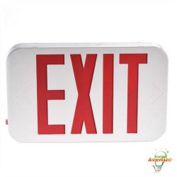 Compass - CER - Red Lettered LED Exit Sign -- Red Letters - 120/277VAC - 90 Minute Battery Backup - UL924 Listed, Damp Locations - 2 Year Warranty