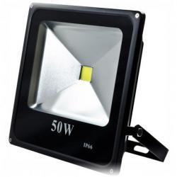 Dabmar DF-LED5963-B - 50W LED Flood Light - 6500K -- Slim - LED Cob Light - 3,500 Lumens - 85-265V - Black
