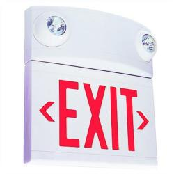 Dual-Lite - LTURW - Tandem Emergency Exit Sign -- 2x 5 Watt Halogen Lamps - 120/277V - Red LEDs