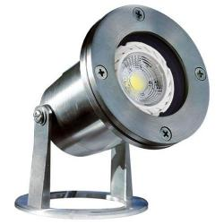 Dabmar LV-323-LED3-SS316 - 3W LED Underwater Fixture -- 316 Stainless Steel - LED Cob Illuminant Type - 50 Maximum Wattage - 12V