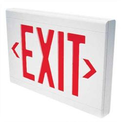 Dual-Lite - LXURWE - Double Faced Exit Sign -- 2.64-2.70 Watt - White Housing - Red Letters
