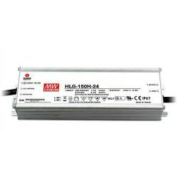 Mean Well - HLG-150H-24 - LED Driver -- 150 Maximum Wattage - 24V - 5 Year Warranty