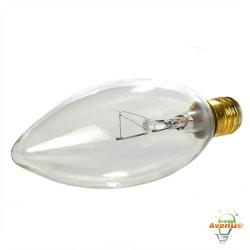 Feit - 15CTC-130 - Clear Torpedo Tip Bulb -- 15 Watt - 130V - E12 Candelabra Base - Torpedo Bulb - 2,000 Life Hours - 2700K Warm White