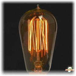 Ferrowatt - 013651 - F1910-24060 - Antique Squirrel Cage Light Bulb -- 60 Watt - 240V - Medium (E27) Base - 1910 Squirrelcage Filament