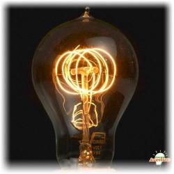 Ferrowatt - F1920Q-12060 - Antique Quad Loop Filament Light Bulb -- 60 Watt - 120V - Medium (E26) Base - 500 Lumens