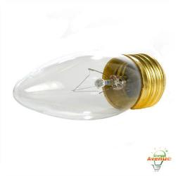 Feit - 25ETC-130 - Clear Torpedo Tip Bulb -- 25 Watt - 130V - E26 Medium Base - Torpedo Bulb - 2,000 Life Hours - 2700K Warm White