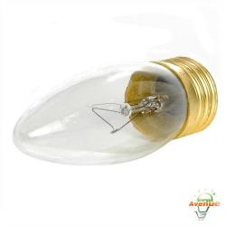 Feit - 40ETC-130 - Clear Torpedo Tip Bulb -- 40 Watt - 130V - E26 Medium Base - Torpedo Bulb - 2,000 Life Hours - 2700K Warm White
