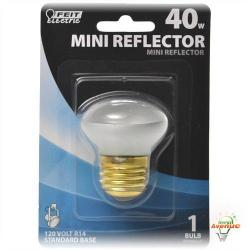 Feit - 40R14 - Incandescent R14 Mini Reflector -- 40 Watt - 120V - E26 Medium Base - R14 Bulb - Soft White Finish