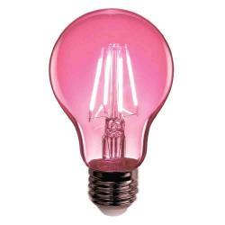 Feit - A19/TPK/LED - LED Filament Bulb -- A19 - 3.6 Watt - Pink