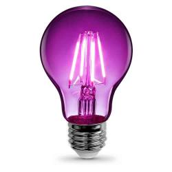 Feit - A19/TP/LED - LED Filament Bulb -- A19 - 3.6 Watt - Purple