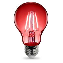 Feit - A19/TR/LED - Red LED Filament Bulb