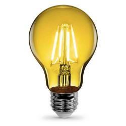 Feit A19/TY/LED - Yellow LED Filament Bulb
