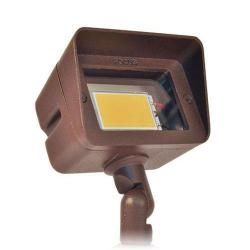 Focus DL-15-LEDP412V-WBR - 4W LED Directional Light -- Weathered Brown Finish - 12V Aluminum Floodlight - Warm White - 3000K - High Impact Clear Acrylic