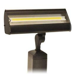 Focus LFL-01-LEDP812VBRT - LED Flood Lights - 12V - 8W LED Flat Panel -- Bronze Texture - Warm White - 3000K - Clear Acrylic Lens