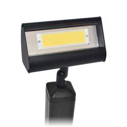 Focus LFL-01-HELEDP8120VBLT - LED Flood Lights with Hood Extension -- 120V - 8W LED Flat Panel - Standard Black Texture - Warm White - 3000K - Clear Acrylic Lens