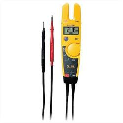 Fluke - T5-600 - Voltage, Continuity, and Current Tester -- Displays resistance to 1000&#8486 - 0-600VAC/DC - Heavy duty, flexible leads