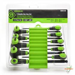 GreenLee - 0254-40 - Hex Key Set -- 10PC T-HANDLE WRN SET