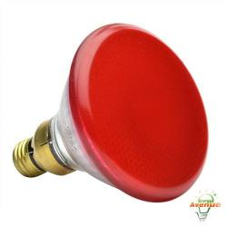 GE 13472 100PAR/R/85WM6PK - 85 Watt Red Colored Incandescent Floodlight