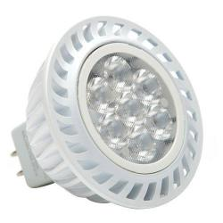 Green Creative - 40755 - 6MR16G4DIM/827FL36 - MR16 LED - 35 Watt Halogen Equivalent -- 6 Watt - Bi-Pin - 12V - 2700K - 36 Degree Beam Angle