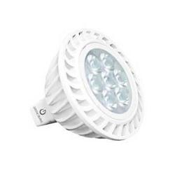 Green Creative 40760 - 7 Watt MR16 LED Lamp - 4000K - 50W Halogen Equal -- 7MR16G4DIM/840FL36 - 12V - 580 Lumens - GU5.3 Base - 80 CRI - 36 Degree Beam Angle - Dimmable - For Enclosed Fixtures