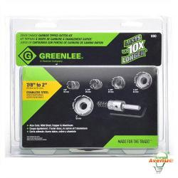 Greenlee - 660 - Quick Change Hole Cutter Kit -- 7/8 - 1-1/8 - 1-3/8 - 1-3/4 - 2 inches