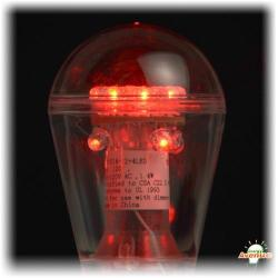 GBL Lighting - E26-S14-12+4 LED - Red LED Light Bulb -- 1.4 Watt - Medium (E26) Base - S14 Bulb - 90-130V - Replaces a Standard 11 Watt S14 Bulb - Clear