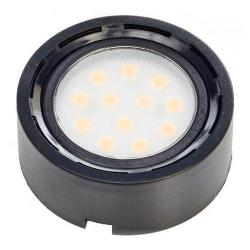 "GBL Lighting - RD07-12SMD - LED 1.75"" Cabinet Puck Light -- 2 Watt - 12 LEDs - 118 Lumens - 11-15V DC - Black Finish"