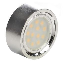 "GBL Lighting - RD07-12SMD - LED 1.75"" Cabinet Puck Light -- 2 Watt - 12 LEDs - 118 Lumens - 11-15V DC - Brushed Nickel Finish"