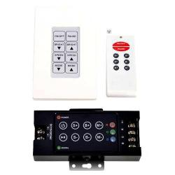 GBL Lighting - RGB-WALLMT-RF-CNTRL - RGB Wall Mount Controller with RF remote -- 12VDC - Up to 100Ft Remote Range - 21 Modes - 144 Max Watts