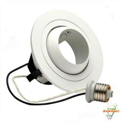 Cooper Lighting - 998P - 4 Inch Adjustable Eyeball Trim - White Eyeball -- 2 1/8 Inch Aperture