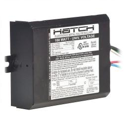 Hatch Lighting - MC100-1-F-UNNU-HB - Electronic HID Ballast -- Pulse Start - 100 Watt - Side Leads with Mounting Feet - 120/208/240/277VAC