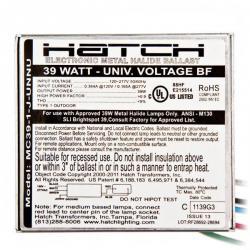 Hatch Lighting - MC39-1-J-UNNUG3 - 39 Watt Mini Electronic Metal Halide Ballast