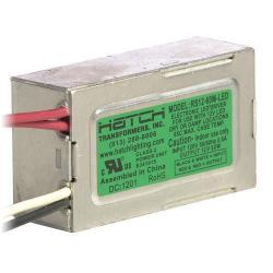 Hatch Lighting - RS12-60M-LED - A/C LED Driver -- 60 Watt - Side Leads - Dimming - 120VAC Input/12V Output