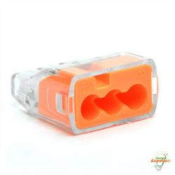 Ideal - 30-1033J - Push In Wire Connectors - Conductor Range 18 to 12 AWG -- Orange - 250 Count