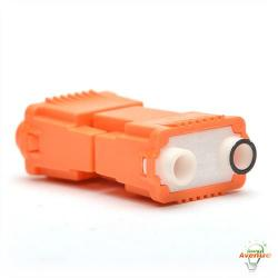 Ideal - 30-352J - Ballast Disconnect - Power Plug - Wire Range18 to 12 AWG Solid 14 to 12 AWG Stranded -- Orange - 2 Port - 150 Count