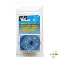 Ideal - 35-781 - 5 Pack Blades for Rotary BX Cable Cutter -- For Ideal 35782 Rotary Armored Cable Cutter