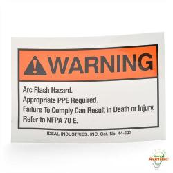 Ideal - 44-892 - Flash Warning Label