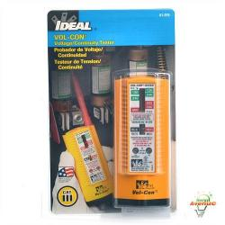 Ideal - 61-076 - Voltage and Continuity 3-in-1 Tester -- Tests for high voltage up to 600V AC/DC, Tests for low voltage as low as 5V AC/DC - CAT III - 600V - 2-year Warranty