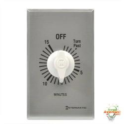 Intermatic - FF15MC - 0-15 Minute Spring Wound Timer -- SPST - 120/240/277V - 1 Gang - Silver Face Plate