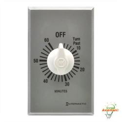 Intermatic - FF60MC - 0-60 Minute Spring Wound Timer -- SPST - 120/240/277V - 1 Gang - Silver Face Plate