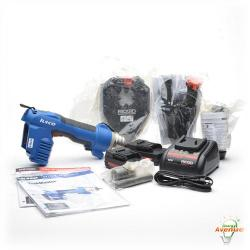ILSCO IVTB Taskmaster - IVTB-6-ALIO-P - 6 Ton Hydraulic Tool -- Dieless Crimper - Cable Cutter - Knock Out Puncher - 360 Tool Head - 18 Volt Advanced Lithium-ion Battery