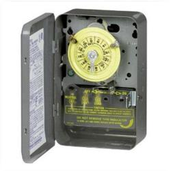 Intermatic - T101 - Heavy Duty Mechanical Time Switch -- 24-Hour Dial - 40 Amps - 125V - NEMA 1 Indoor Steel Case - SPST - Gray