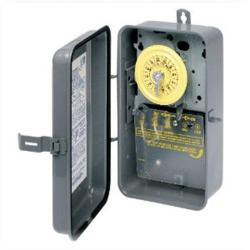 Intermatic - T101R - Heavy Duty Mechanical Time Switch -- 24-Hour Dial - 40 Amps - 125V - SPST - NEMA 3R Raintight Steel Case - Gray