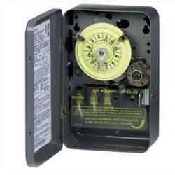 Intermatic - T103 - Heavy Duty Mechanical Time Switch -- 24-Hour Dial - 40 Amps - 125V - DPST - NEMA 1 Indoor Steel Case - Gray